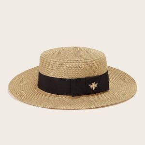 Restocked NEW Gold Bee Straw Beach Hat